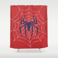 spider Shower Curtains featuring Spider by Vickn