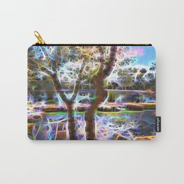 Trees Pond and Light Streams Carry-All Pouch