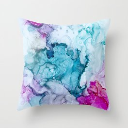 Candied Coral Throw Pillow