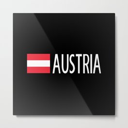 Austria: Austrian Flag & Austria Metal Print