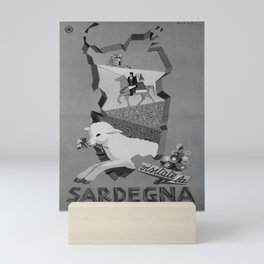 retro retro ENIT Sardegna poster Mini Art Print