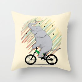 It's Like Riding a Bike Throw Pillow