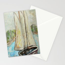 On a Cloudy Day - Impressionistic Art Stationery Cards