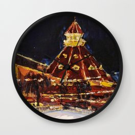 Hotel Del Coronado at Night Wall Clock
