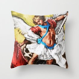 """Archangel Mondays"" Painting by Jeanpaul Ferro Throw Pillow"