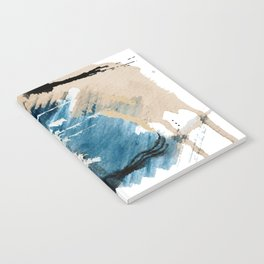 You are an Ocean - abstract India Ink & Acrylic in blue, gray, brown, black and white Notebook