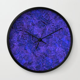Lavender Violet Electric Knitwear Background Pattern Wall Clock