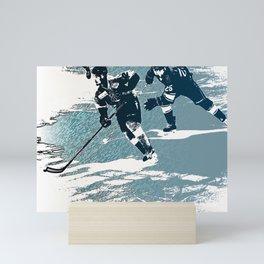 The Break- Away - Hockey Players Mini Art Print