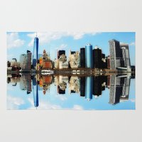 new york Area & Throw Rugs featuring New York New York by haroulita