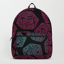 d20 dice pattern - darker gradient pastel - icosahedron Backpack