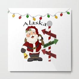 Alaska Santa Metal Print