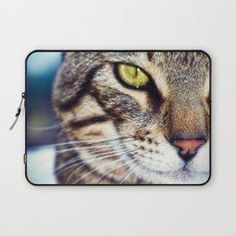 Bengal Tom Tabby Cat Portrait Laptop Sleeve