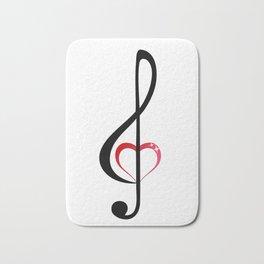 Heart music clef Bath Mat