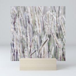 Silver hair grass Mini Art Print