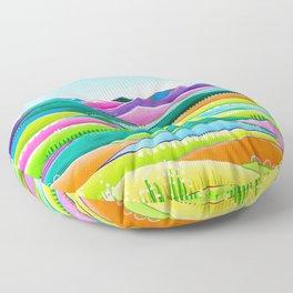 Pastel Hills Floor Pillow