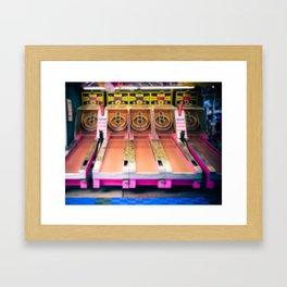 Skee Ball Blurry Photo Framed Art Print