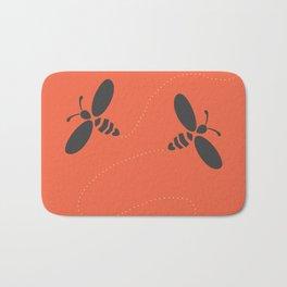 Orange Bees Bath Mat