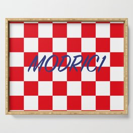 Lukas Modric number one Serving Tray