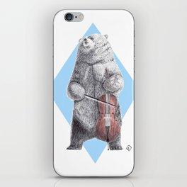 Cellist bear iPhone Skin