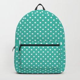 Pastel green white geometric simple polka dots Backpack