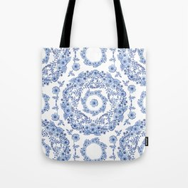 Blue Rhapsody on white Tote Bag