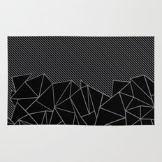 Ab Lines 45 Grey and Black Rug