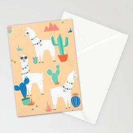 Summer Llamas Stationery Cards