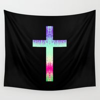 cross Wall Tapestries featuring Cross by M Studio