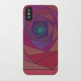 swirling pentagon 1 iPhone Case