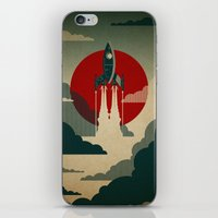 man of steel iPhone & iPod Skins featuring The Voyage by Danny Haas