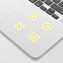 Yellow Gamer Pattern Sticker
