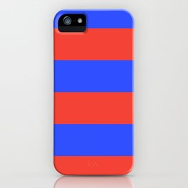 Even Horizontal Stripes, Blue and Red, XL iPhone Case