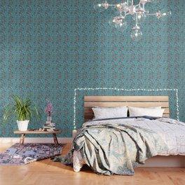 Antique glass bulb teal Wallpaper