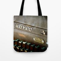 writer Tote Bags featuring Writer  by Rick Staggs