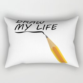 Draw my life Rectangular Pillow