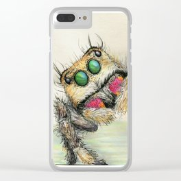 spider hugs Clear iPhone Case