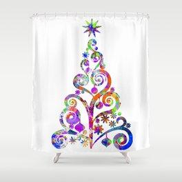 Cristmas Tree Shower Curtain