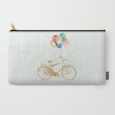 Bicycle & Balloons Carry-All Pouch