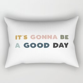 Good Day - Retro Rainbow Rectangular Pillow