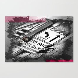 Abstract City Signs Canvas Print