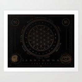 Shadow   Higher Dimensional Spirit Board (Ouija)  Art Print