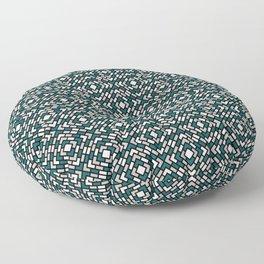 Benjamin Moore 2019 Metropolitan Gray, Beau Green 2054-20 and Snowfall White Diamond Grid Pattern Floor Pillow