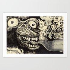A wrong turn Art Print
