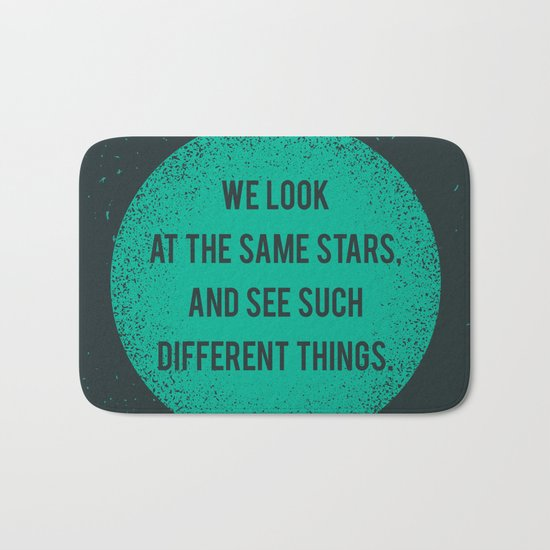 Same Stars - Different Things Bath Mat