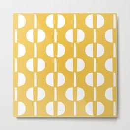 Modernist Geometric Pattern 424 Yellow Metal Print