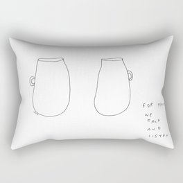 For Peace - coffee cup illustration Rectangular Pillow