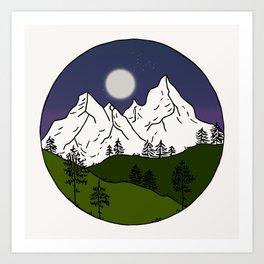 White mountains Art Print
