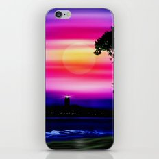 Evening sun on the coast. iPhone & iPod Skin