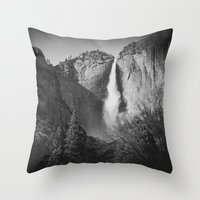 yosemite Throw Pillows featuring Yosemite by Sarah Van Neyghem