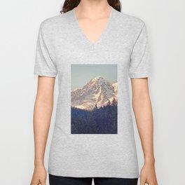 Mount Rainier Retro Unisex V-Neck
